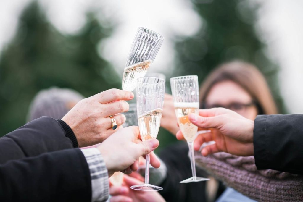 Celebrattion toast after an offer is accepted