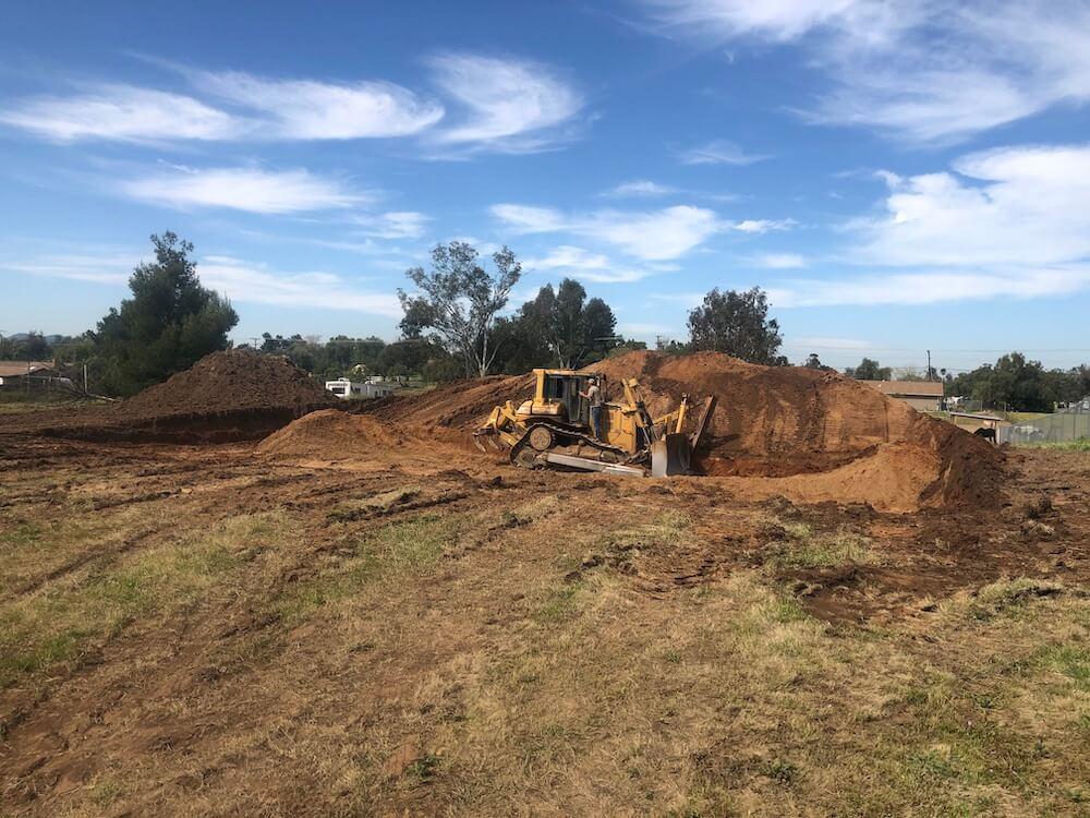 Bulldozer grading Robinson Ranch