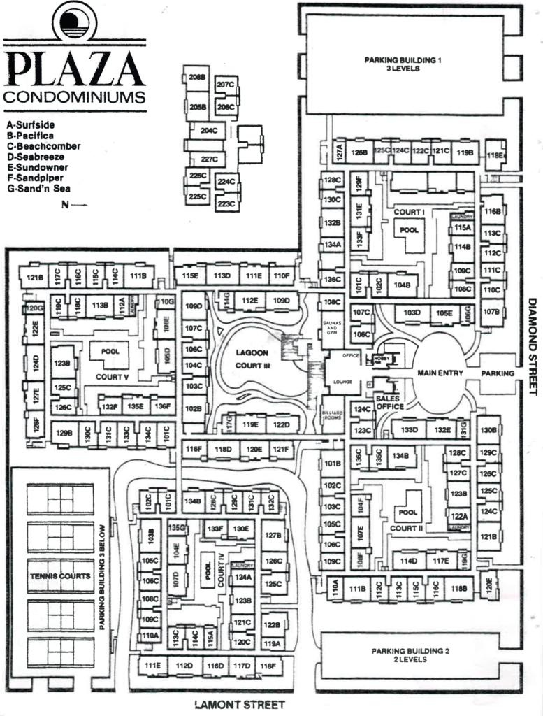 The Plaza condos map