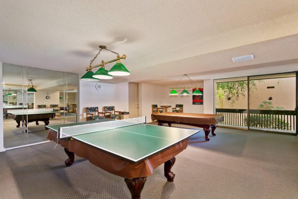 The Plaza condos billiards room