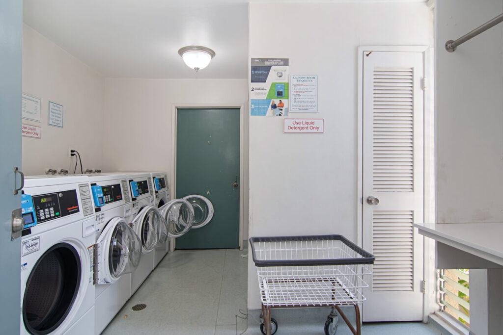 The Plaza condos laundry room